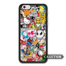 Large Sticker Bomb JDM Lovely Classic Case For iPhone 7 6 6s Plus 5 5s SE 5c 4 4s and For iPod 5