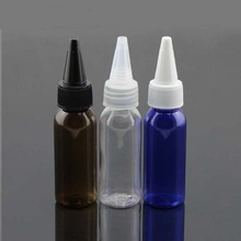30ml empty amber plastic bottles with pointed mouth caps ,1.0 oz e-liquid empty jam bottle containers with lid , shower gel