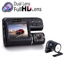 "I1000S Dual Lens Car DVR Camera Full HD 1080P+Rear View Cam 2.0""LCD With 8 LED Light Night Vision H.264 Dash Cam 140 Degree"