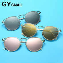 GYSnail 2017 New Arrival Fashion Hot Sale Women Classic Brand Designer Cat Eye Sunglasses Metal Frame Sun Glasses lively UV400(China)