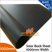 10 Meter/Lot Wholesale Black TPT Back Sheet, 1000mm Width 0.3mm Thickness, 1000mm Solar Back Sheet Film for Solar Panel Laminate(China)