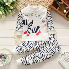 2 pcs Set Cotton Children Clothing Sets Kids Winter Autumn Top+pant Toddler Long Johns Suits Newborn Girls Boys Baby Clothes 243(China)