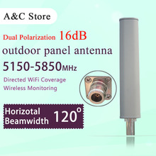 wifi antenna dual polarization 5.8G 120 degree 17dBi outdoor base station wireless antenna diretional MIMO for ap sector N-K(China)