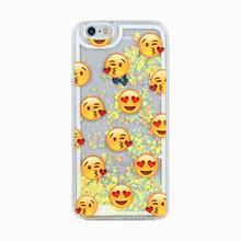 2017 Fashion gift cartoon hot flash powder quicksand glitter star detergent rainbow clouds donuts smile phiz pc case For Iphone(China)