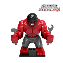 1PC Red Hulk Diy Action Figures Buster Ninja Super Heroes Avengers Building Blocks Sets Star Wars Bricks Kids Toys Hobbies Gift - Five-Stars Store store