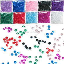 2000PCS 10mm 4ct Wedding Party family Decoration black Diamond Confetti Table ScattersAcrylic Crystals small plastic Decoration