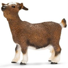 Original genuine farm animal model goat figures collectible figurine kids educational toys children