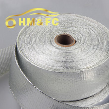 2 Inch 'x16 Feet ALUMINIZED Thermal Wrap,exhaust insulating warp,header warp ,exhaust pipe warp with high quality + 2 zip ties