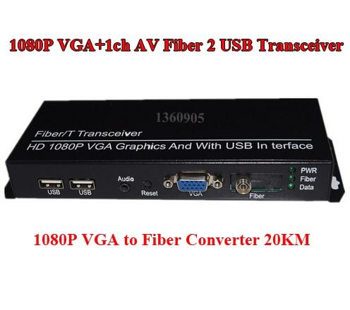 Single fiber optic transceivers Optical Transmitter VGA Extender with USB multi-mode fiber optic converter<br><br>Aliexpress
