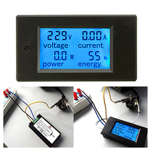 Useful 20A AC Digital LED Power Panel Meter Monitor Power Energy Voltmeter Ammeter Hot(China)