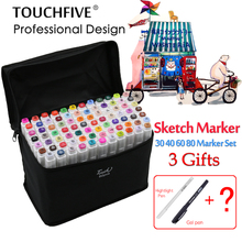 TouchFIVE sketch art Supplies mark pen Alcohol Marker pen soluble pen cartoon graffiti Art markers for designers markers(China)