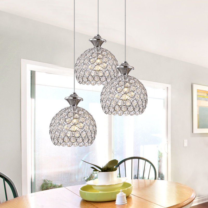 mumeng Modern K9 Crystal Pendant Light 1 3 head Hanging Lamp Ball Suspension Dining Room Fixture Fit E27 Bulb Russia Europe<br><br>Aliexpress