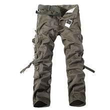Mens Pants Slacks Casual Military Army Pants Cargo Solid Combat Fitted Suit Trousers Good Quality Zopper Cargo Pants 039(China)