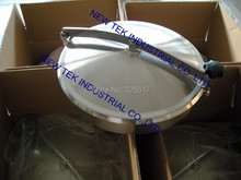 400mm Heavy Duty Round Manway, Non-pressure Manhole Cover, Stainless Steel 304 Food Grade Mandoor
