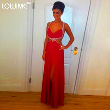 Sexy Formal Crystal Dinner Sari Long Glitter Dress To Party For Women Robe Rouge Red Gown Evening Dresses Abaya Online Shopping