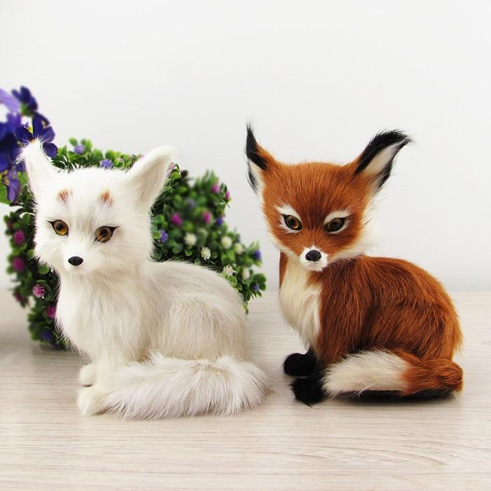 15x11cm simulation fox ,plastic&amp; fur squatting fox,toy model home decoration Xmas gift w5825<br><br>Aliexpress