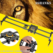"ASHANKS 31.5""/80cm Carbon Fiber Camera Track Dolly Slider Rail System with 33lb/15kg Load for Photography DSLR Nikon Canon Sony"