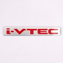 Aluminum Car Badge Emblem Decal Sticker Red i-VTEC Engine performance For Honda Accord Civic CR-V CR-Z City Acura Styling