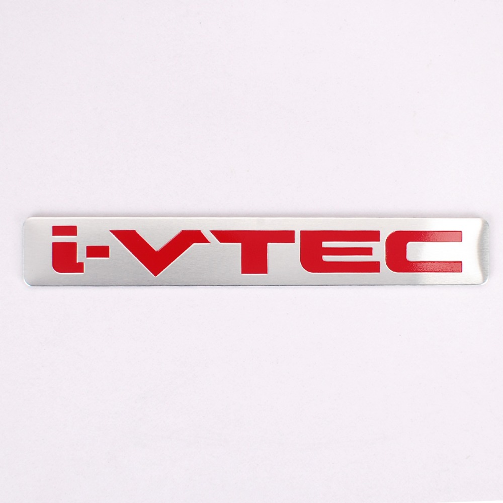 Aluminum Car Badge Emblem Decal Sticker Red i-VTEC Engine performance For Honda Accord Civic CR-V CR-Z City Acura Styling(China)