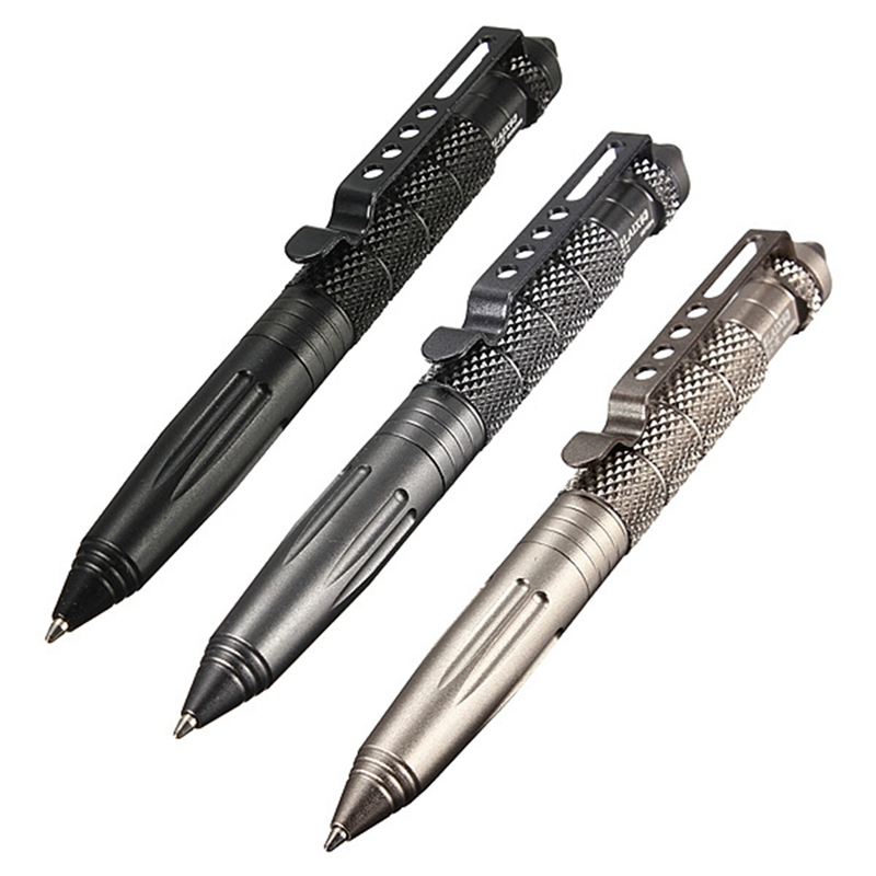 2016 Arrived Aluminum Alloy 3 Color Portable Outdoor Defense Yourself Multi-Tool Tactical Pen Glass Breaker Outdoor Camping Tool<br><br>Aliexpress