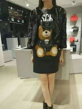 Camisetas Animal Leather bear T-shirt skirt For Women Short Sleeve Cotton Tops Anime Cartoon Shirts For Female 3d Printed Tees