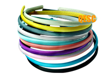 10 colors.7mm satin headband for fascinator,hair accessory,bridal fascinator.FREE SHIPPING.(China)