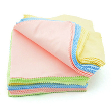 New brand 12*12cm 10pcs/set Square Micro Fiber Glasses Cleaning Cloth Lens Cleaners Random color