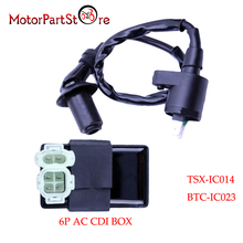 Ignition Coil 6Pin AC CDI Box for Honda XR CRF TRX 50 70 125 250 300cc ATC Engine Motorcycle Dirt Bike ATV Moped Scooter Go Kart