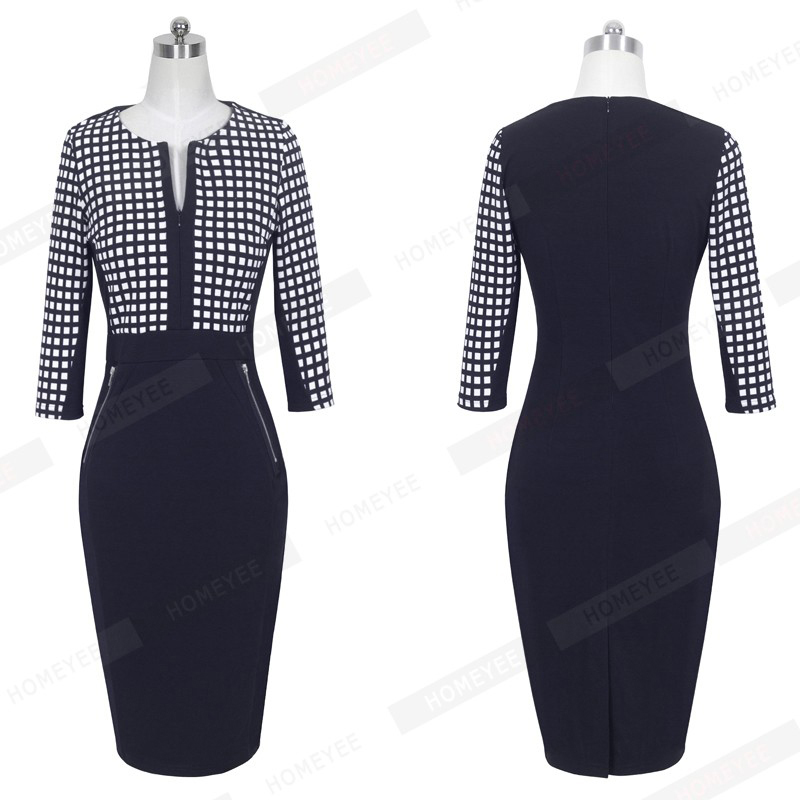 Plus Size Elegant Bodycon Pencil dress 49