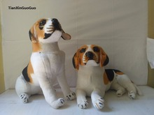 large 35cm artificial beagle dog plush toy soft doll birthday gift b1955(China)