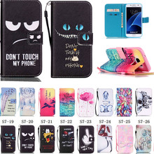 2016 PU Leather Case For Coque Samsung Galaxy S7 Cover Flip Wallet Stand Soft TPU Back for Samsung Galaxy S7 edge phone case