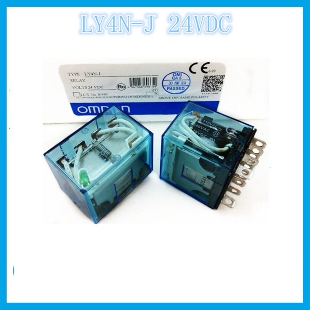 LY4N-J DC24V 24VDC  14 feet 2A2B 10A OMRON  relay Four open Four closed 14 needle electronic component  solid state relays<br>