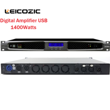 Leicozic 1400W Stereo Power Amplifier DSP Studio Linear Amp Live Sound PA / DJ Systems Light weight Touring Amp 1U Switching AMP(China)