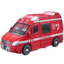 Deformation Movie 4 Robots Action Figure Toys Ambulance/Motorcycle Model New Year &Christmas gift(China)