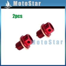 2pcs Oil Magnetic Drain Bolt Plug For Chinese Engine Lifan YX Zongshen Loncin Pit Dirt Bike 50cc 90cc 110cc 125cc 140 150 160 cc(China)