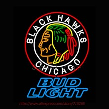 Bud Light Commemorative 1938 Chicago Blackhawks Neon Signs Stars Handcrafted Neon Bulbs Real Glass Tube Decorat Room 30x24