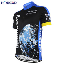 HIRBGOD Mens Short Sleeve Cycling Jersey Discovery the Earth Outdoor Sport Bicycle Bike Wear Shirt Apparel With Pockers-NR153(China)