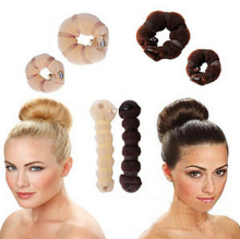 2016 Newly Arrival 2pcs/ Set Different Sizes Elegant Magic Buns Hair Rope 3 Colors Hair Accessories A211-3