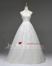 2016 Factory real picture of A-Line tulle wedding dress manufacturer abito da sposa reale Ball Gown Bridal Gown(China)