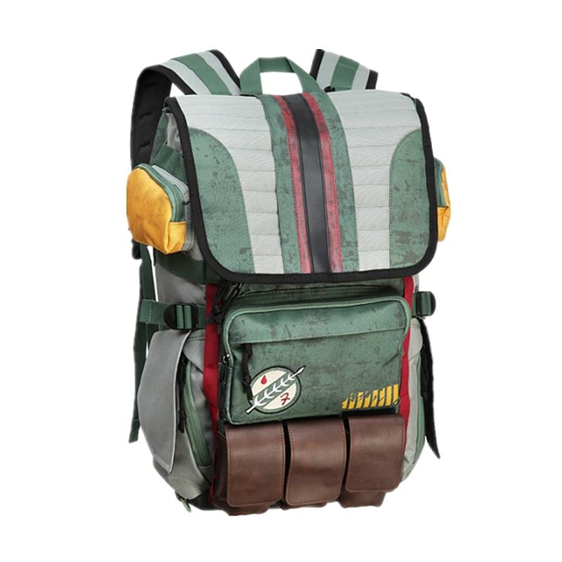 2018 Hot Sale! Star Wars Boba Fett Backpack Laptop Bag Teenager School Bags  Unisex Backpacks Capacity Travel bag mochila<br>