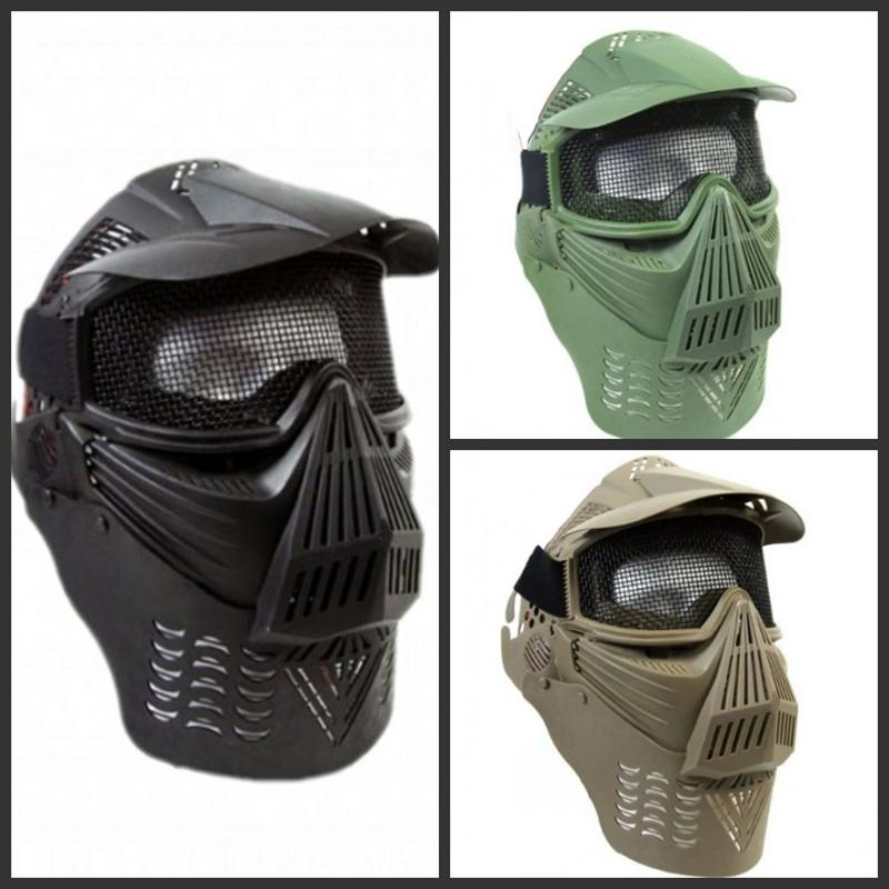 Outdoor Wargame Mask Tactical Full Face Airsoft Paintball CS Safety Protection Equipment Cosplay Horror Ghost Hunting Masks<br><br>Aliexpress