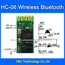 Free Shipping Wireless Bluetooth Serial Pass-through Module HC-06 Bluetooth Module Slave Wireless Serial Communication(China)