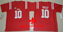 2017  BAICLOTHINGOhio Ole Miss Rebels  Kelly  #10  College Football Jersey - Red Size S,M,L,XL