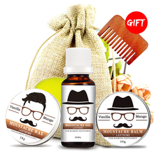 100% Natural Beard growth Oil berad Care Balm bro shaping Moisturizing modeling Organic Beard Conditioner Styling for gentleman(China)