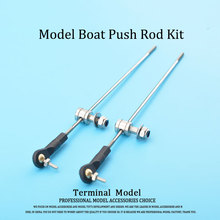 RC Model Boat Push Rod Kit Include M2 Plastic Rod End + Linkage Stoppers + M2 Pull Rod For Servos(China)