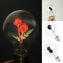 Vintage Industrial Filament Floral Iris E27 Night Light Bulbs Screw Cap Lamp (China)