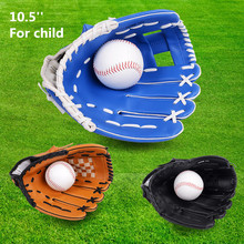 "Lightweight Durable 10.5"" PVC Artificial Leather Softball Baseball Glove Outdoor Team Sports Child Boy Gloves Left Hand Blue(China)"
