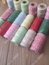 8spools/lot,each spool 25meters ,color cotton baker twine ,gift box bag wrap string cord(China)
