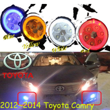 Camry fog light,2006~2014,2pcs/set,optonal:White,yellow,blue,Red,Camry daytime light,LED,Free ship! Camry headlight