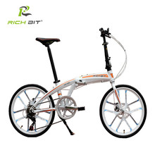 "RichBit New 20"" Mini Folding Bike Quick Release Folding Bicycle Mechanical Disc Brake Folding City Cycling With Integrated Rim(China)"